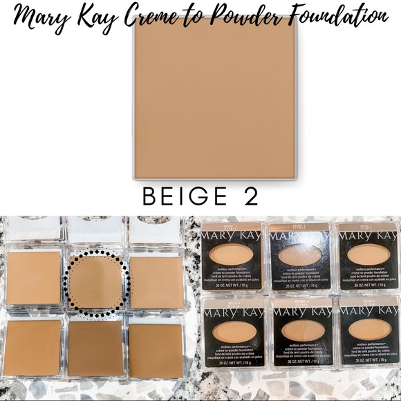 Mary Kay Creme to Powder Foundation In Beige 2